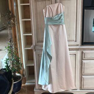 Alexia Designs Gown NWT sage creme